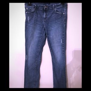 LEVIS SLIM STRAIGHT DISTRESSED JEANS SIZE 16.5
